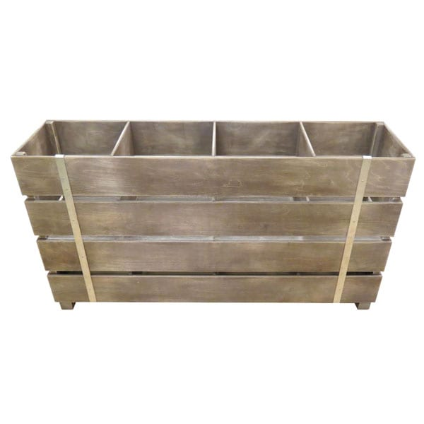 Rustic 4 bin impulse merchandise display stand perfect for Canape display stands