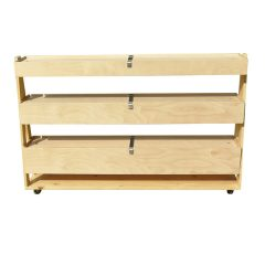 Natural 3-Tier Queue Divider Display Stand 1200x260x940