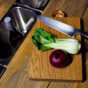 Rustic Square Edged Oak Chopping Board