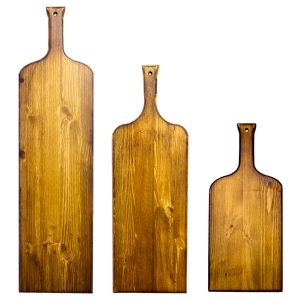 Wine bottle Paddles set side by side