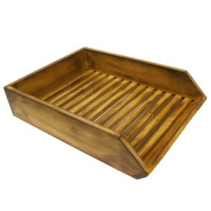 Distressed Rustic Wooden Baguette Tray 400x300x80