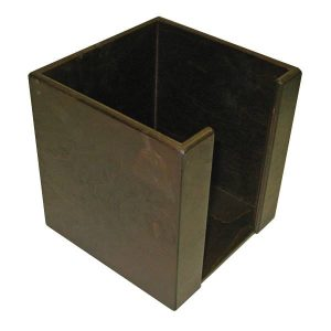 Dark Brown stained birch ply napkin holder 200m tall