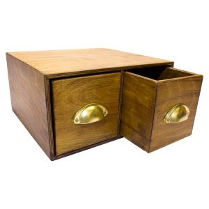 Double Bread Bin with Drawers and Pull Handles