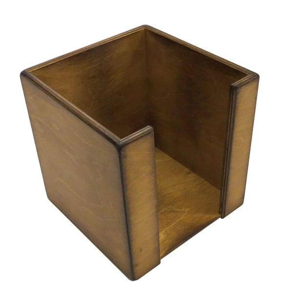 Distressed Stained Birch Ply Napkin Dispenser 200mm