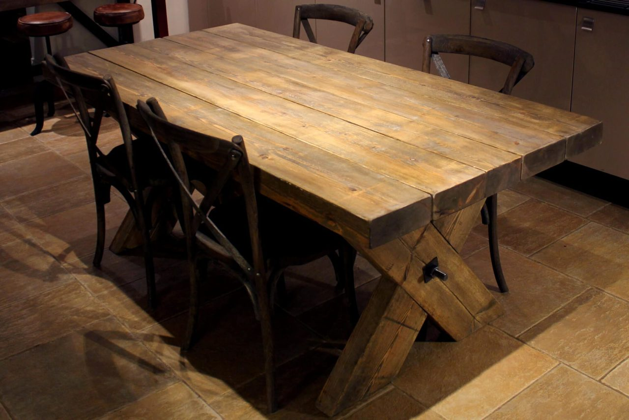 with hand farmhouse crafted table rustic x made farm base custom by ecustomfinishes