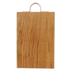 Rustic Square Edged Copper Handle Oak Chopping Board 350x220x34
