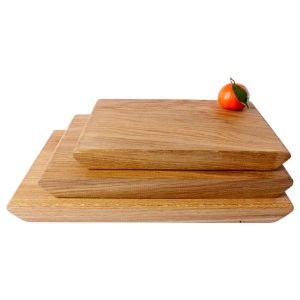 Rustic Tapered Edge Oak Chopping Board SET