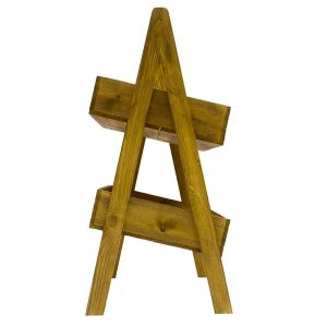 Stained 2 Tier Slanted Wooden A-Frame Display Stand