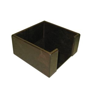 dark brown rustic ply napkin holder 200x200x100