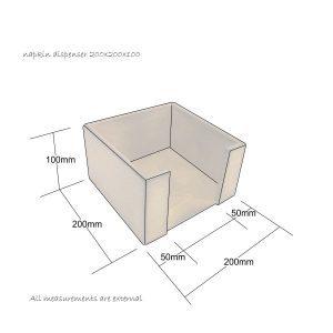 napkin dispenser 200x200x100 schematic