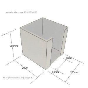napkin dispenser 200x200x200 schematic