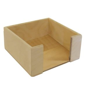 natural rustic ply napkin holder 200x200x100