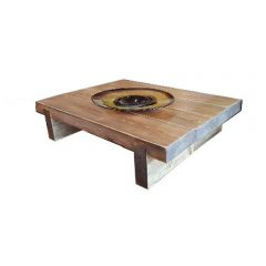 4 Sleeper Rustic Farmhouse Coffee Table 1000x780x295 2