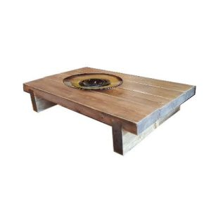 4 Sleeper Rustic Farmhouse Coffee Table 1200x780x295