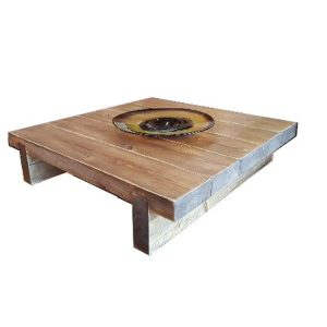 5 Sleeper Rustic Farmhouse Coffee Table 1000x975x295