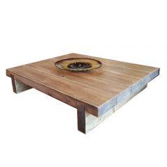 5 Sleeper Rustic Farmhouse Coffee Table 1200x975x295