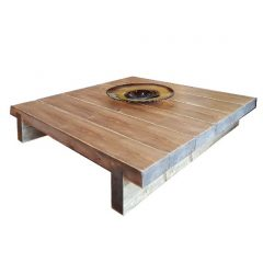6 Sleeper Rustic Farmhouse Coffee Table 1200x1170x295