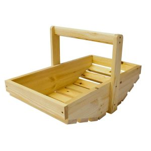 large Natural Stained Rustic Garden Trug