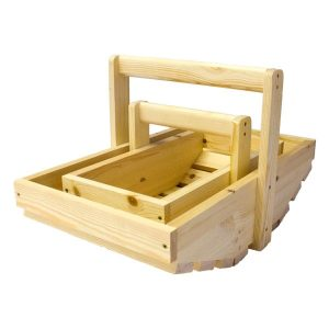 Natural Stained Rustic Garden Trug Set