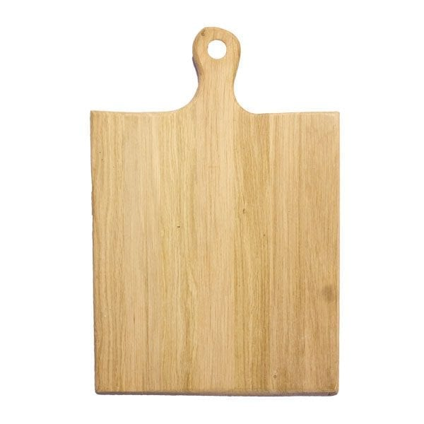 lacquered Rustic Hewn Edge Oak Paddle 460x300x18