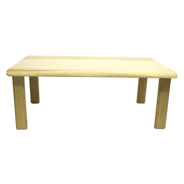 Lacquered Hewn Oak Table Riser 550x300x180