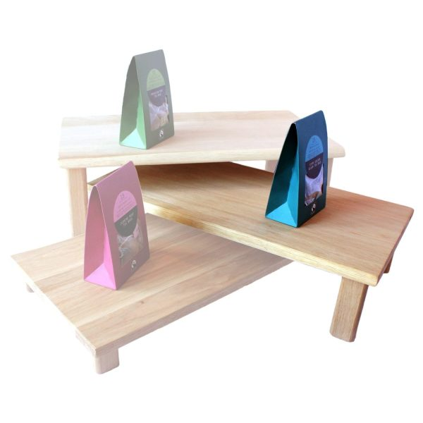 middle hewn oak table riser in set