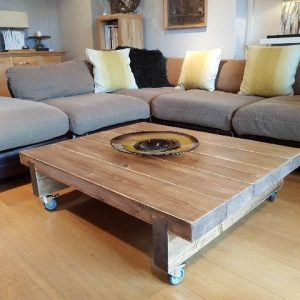 rustic farmhouse coffee table 5 beam 1200mm