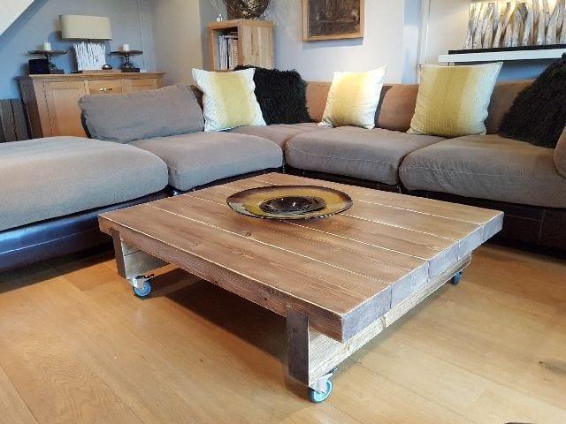 5 Sleeper Rustic Farmhouse Coffee Table 1200x975x295 Ligneus Designs