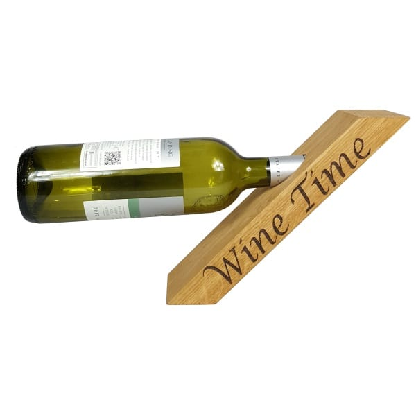 Personalised Oak Wine Bottle Holder Keeping Your Wine Close At Hand