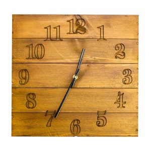Rustic Box Clock Natural