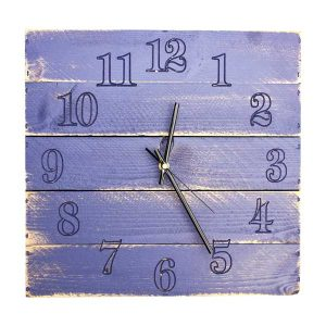 Rustic Box Clock Kingscote Blue
