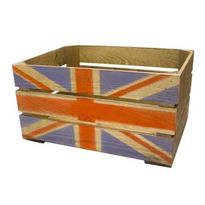 Rustic Union Jack Crate 600x370x250