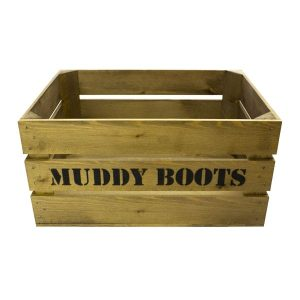Rustic Muddy Boots Crate