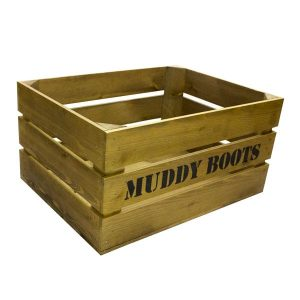 600mm Rustic Muddy Boots Crate