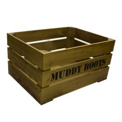 muddy boots crate
