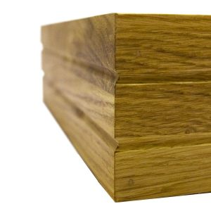 Ribbed Oak Stacker Box