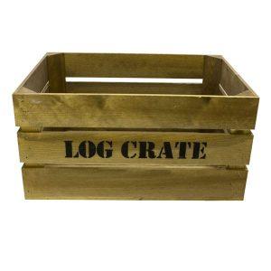 Rustic Log Crate