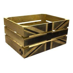 Rustic Black Jack Crate