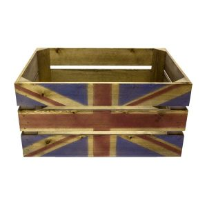 Rustic Union Jack Crate