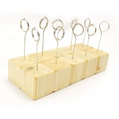 Rustic Wooden Cube Ticket Holder with Coiled Ring 45x45x45 – 10 Pack