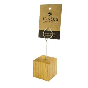 Oak Cube Ticket Holder with Coiled Ring 40x40x40 - 10 Pack