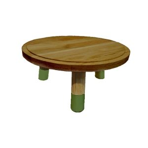 medium tetbury green 140mm Dipped Oak Milking Stool riser