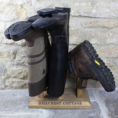 Oak Welly Rack 3 Pair (2 tall 1 short) in use