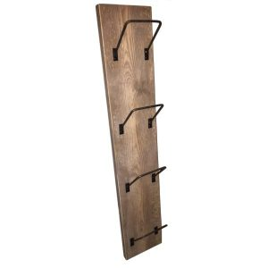 4 rack wine post and newspaper rack