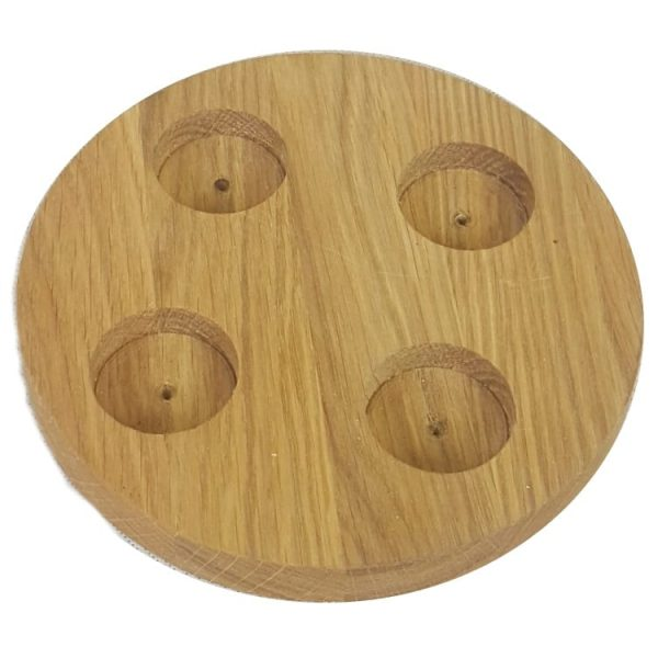 Round Oak Tea Light Holder