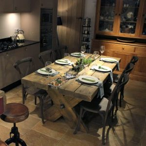 Rustic Dining Table in use
