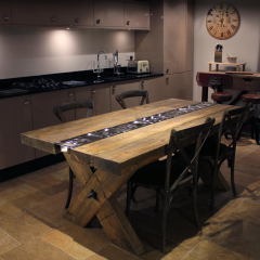 Rustic gastronorm dining table