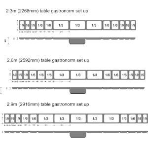 gastronorm table arrangement