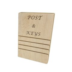 oak post and key tidy