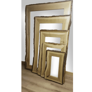 rustic oak mirrors stacked